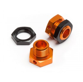 5mm hex wheels adapters Trophy buggy (orange/black)