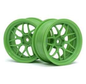 HPI Tech 7 wheel green 26mm + 6mm offset (2pcs)