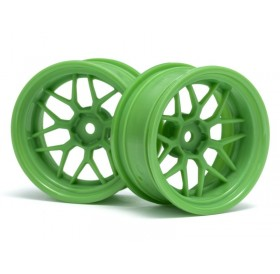 HPI Tech 7 wheel green 26mm + 9mm offset (2pcs)