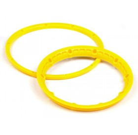 Heavy duty wheel bead lock rings (Yellow/2pcs)