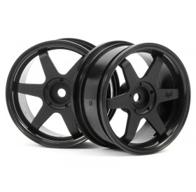 HPI TE37 wheel 26mm (Black) (3mm offset) (2pcs)