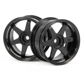 HPI TE37 wheel 26mm (Black) (6mm offset) (2pcs)
