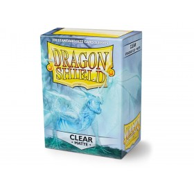 100 Dragon Shield standard card sleeves (Clear matte)