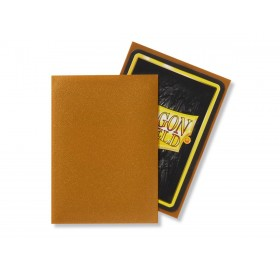 100 Dragon Shield standard card sleeves (Gold matte)